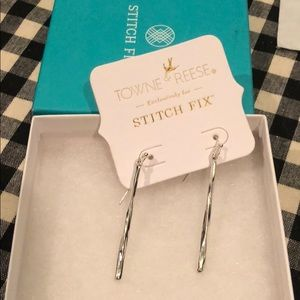 Towns & Reece silver bar earrings